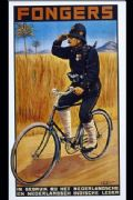 Vinatge Dutch cycling advertisment poster - Fongers